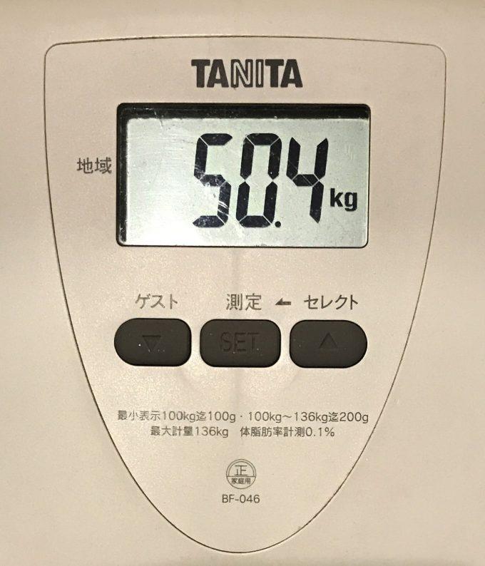 体重 50.4kg