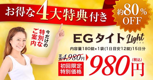 EGタイトLight 特別定期キャンペーン お得な4大特典付き 980円